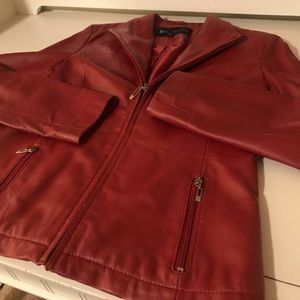 Red leather coat  🍓